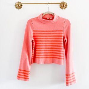 Anthropologie Moth Mockneck Stripe Sweater